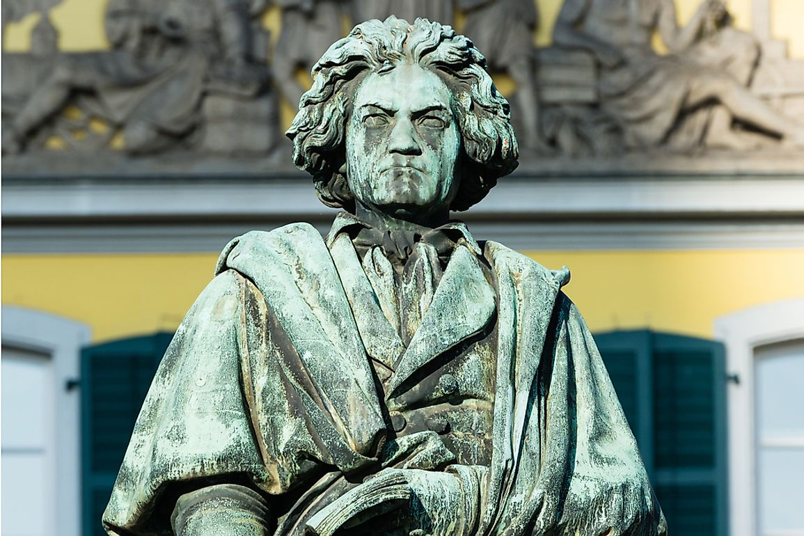 The Beethoven monument in Bonn was unveiled in August 1845.