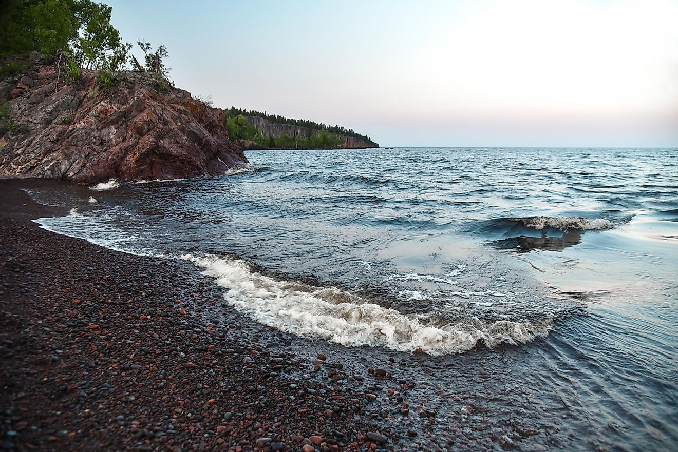 Lake Superior, Minnesota, US.