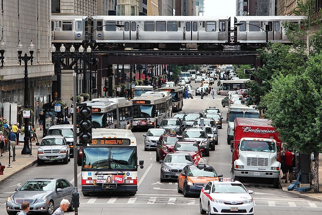 Americans use many different methods to get to and from work each day. Editorial credit: Tupungato / Shutterstock.com
