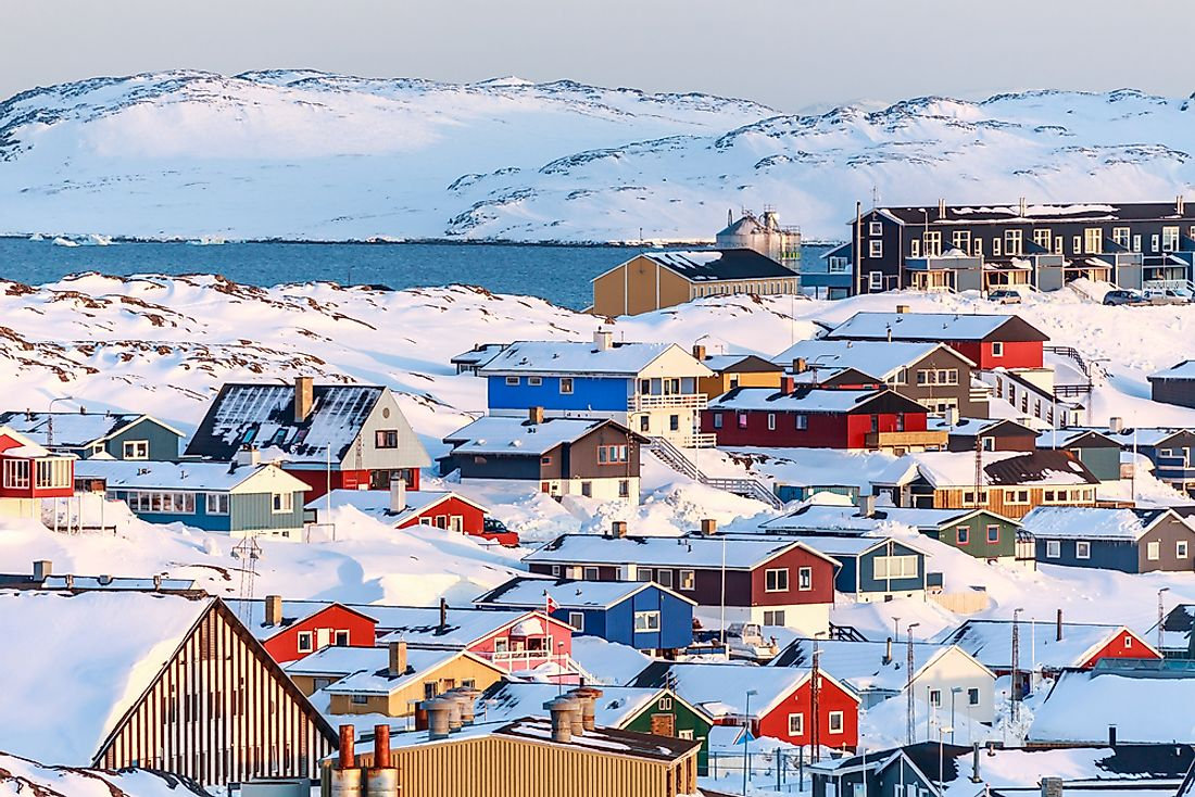 Nuuk, the largest city in Greenland.