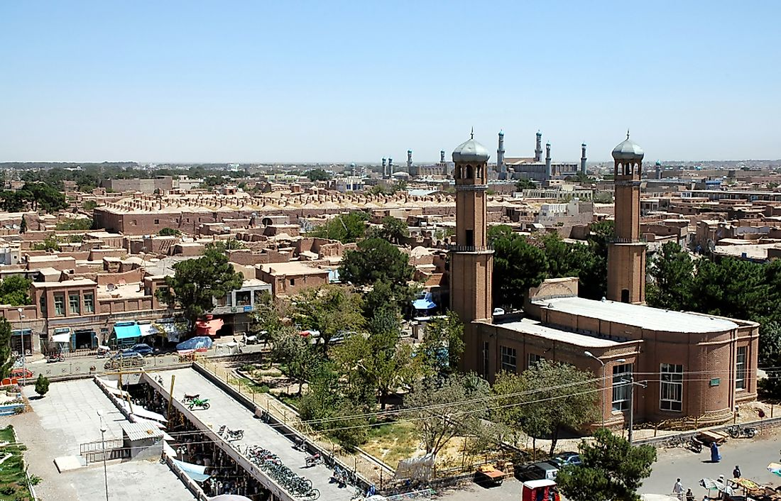 Herat, one of the largest cities in Afghanistan.