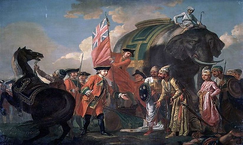 A scene from the Battle of Plassey, 1757.