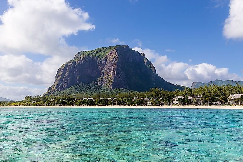 Le Morne Mountain in southwestern Mauritius.
