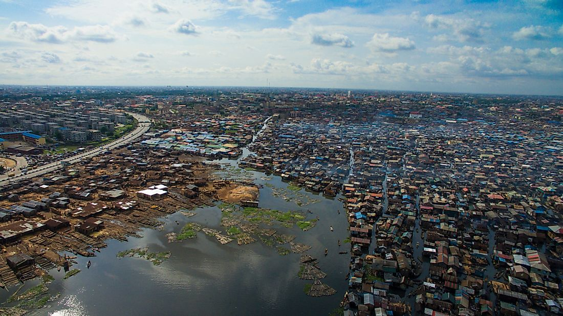 A third of Makoko's community is constructed on stilts above Lagos Lagoon.