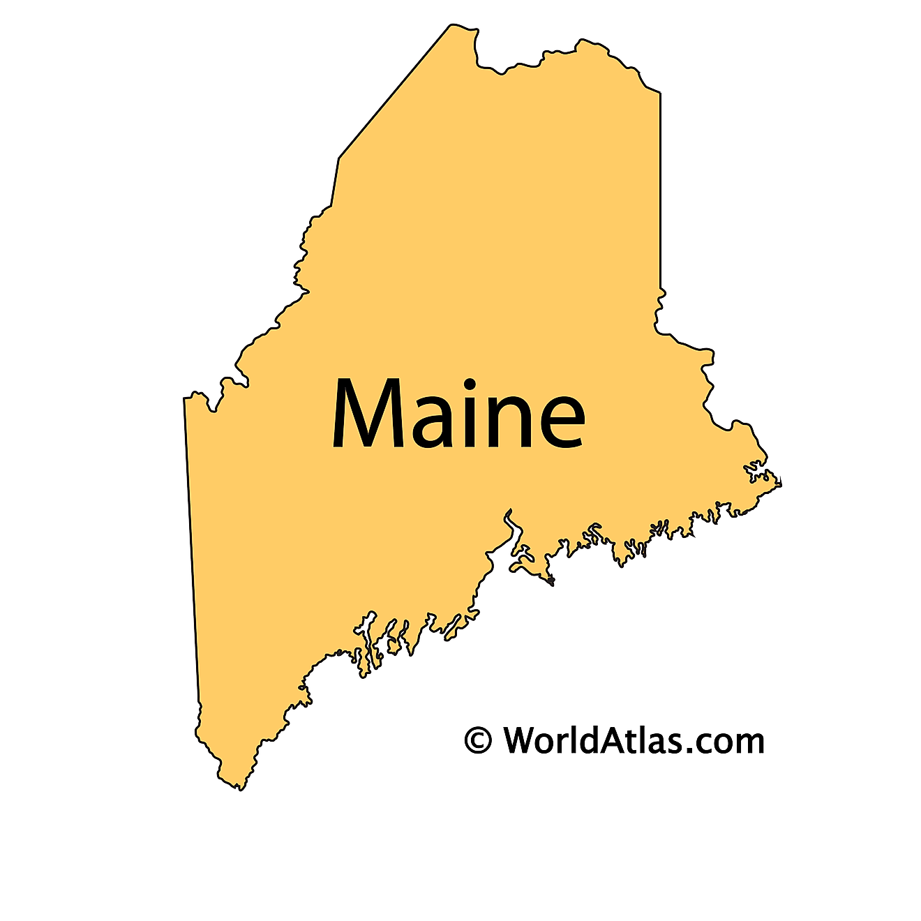 Outline Map of Maine