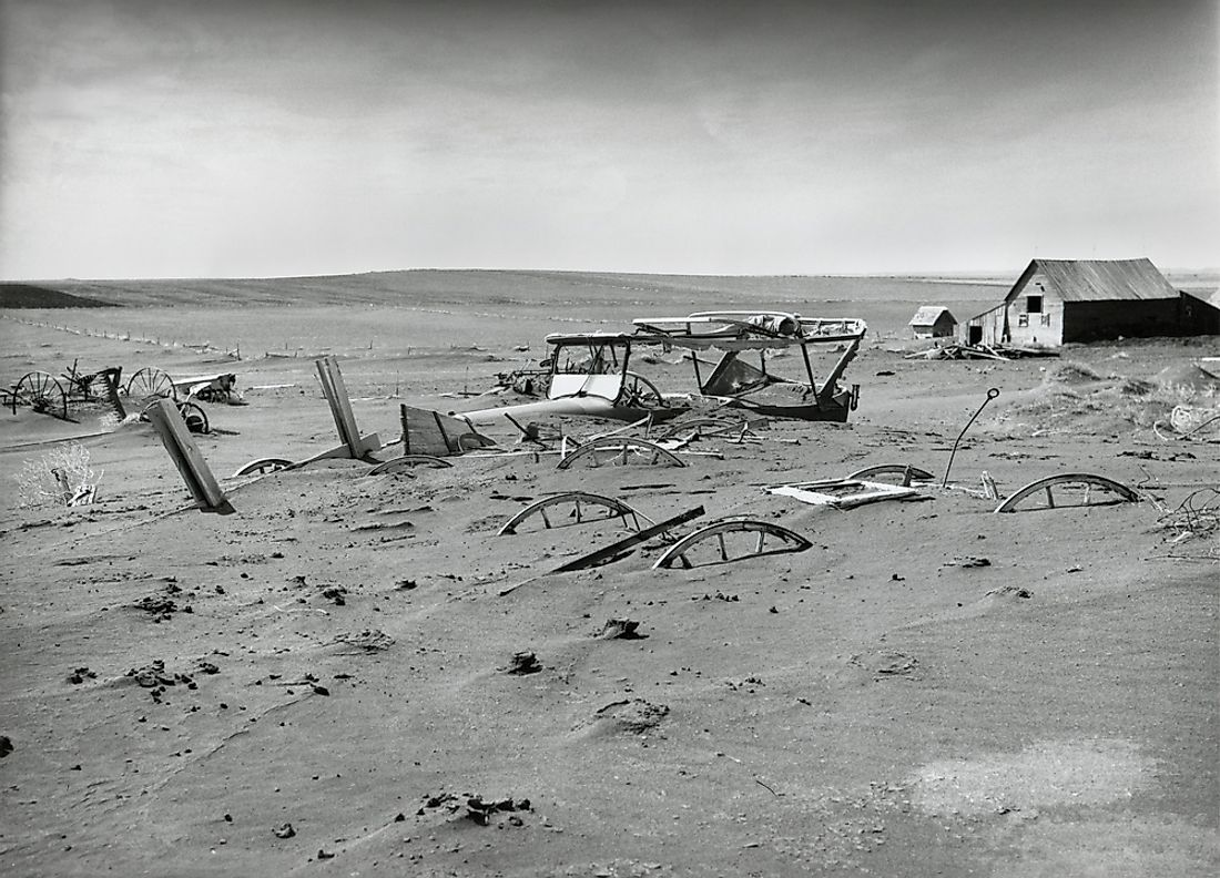Drought ravaged farms during the Great Depression in 1936.