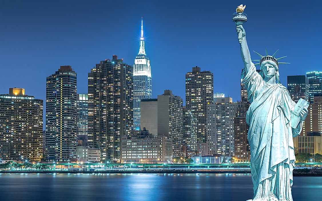 New York City is the largest city in the Mid-Atlantic states.