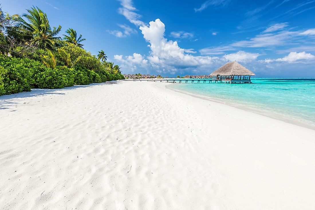 The Maldives are known for their amazing tropical beaches.