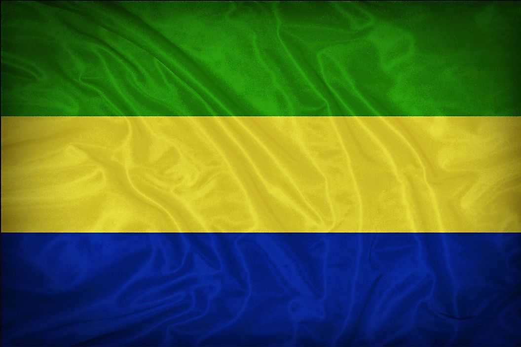 The flag of Gabon.