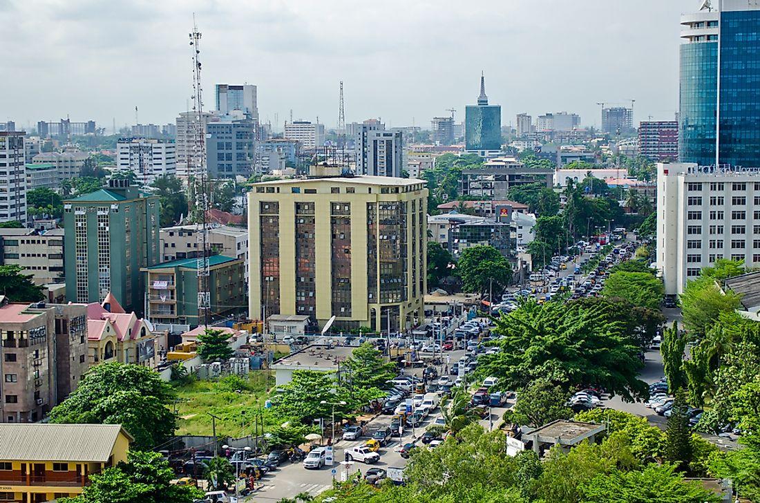 A scene from Lagos, Nigeria. Editorial credit: UnsulliedBokeh / Shutterstock.com.