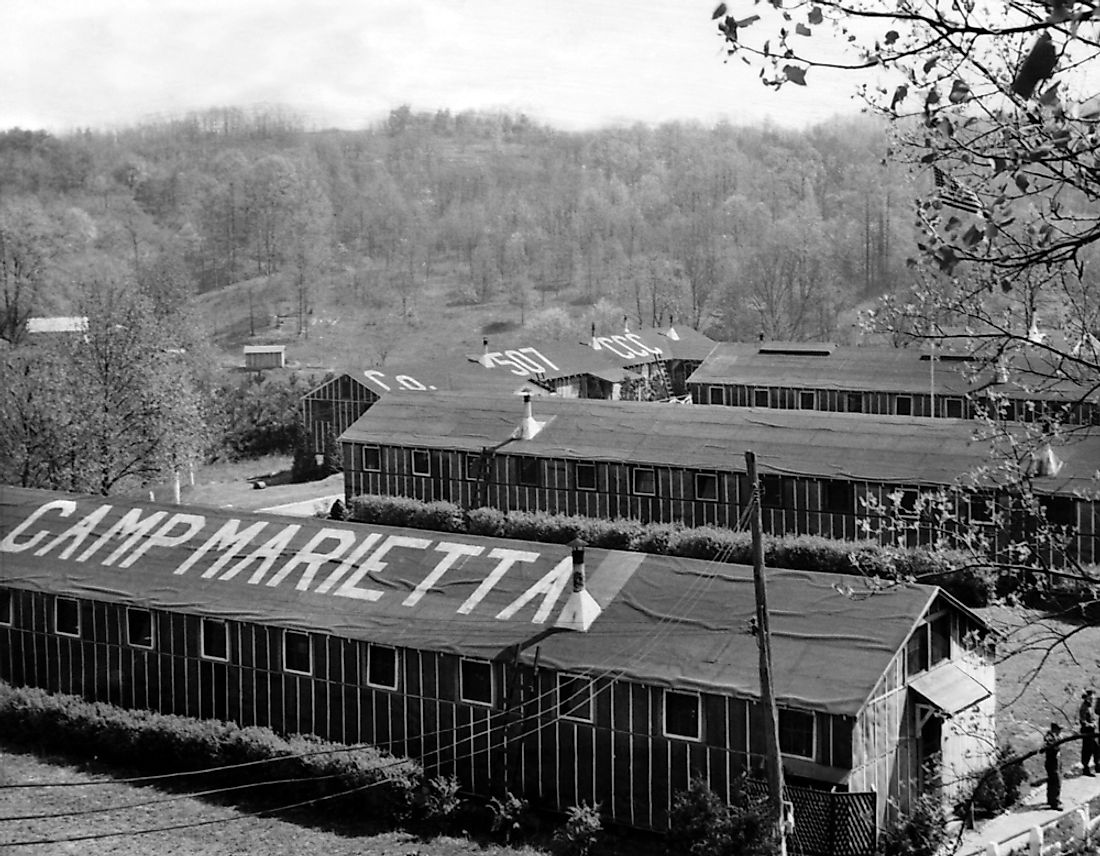 During WWII, many of Ohio's conscientious objectors worked at Camp Marietta.
