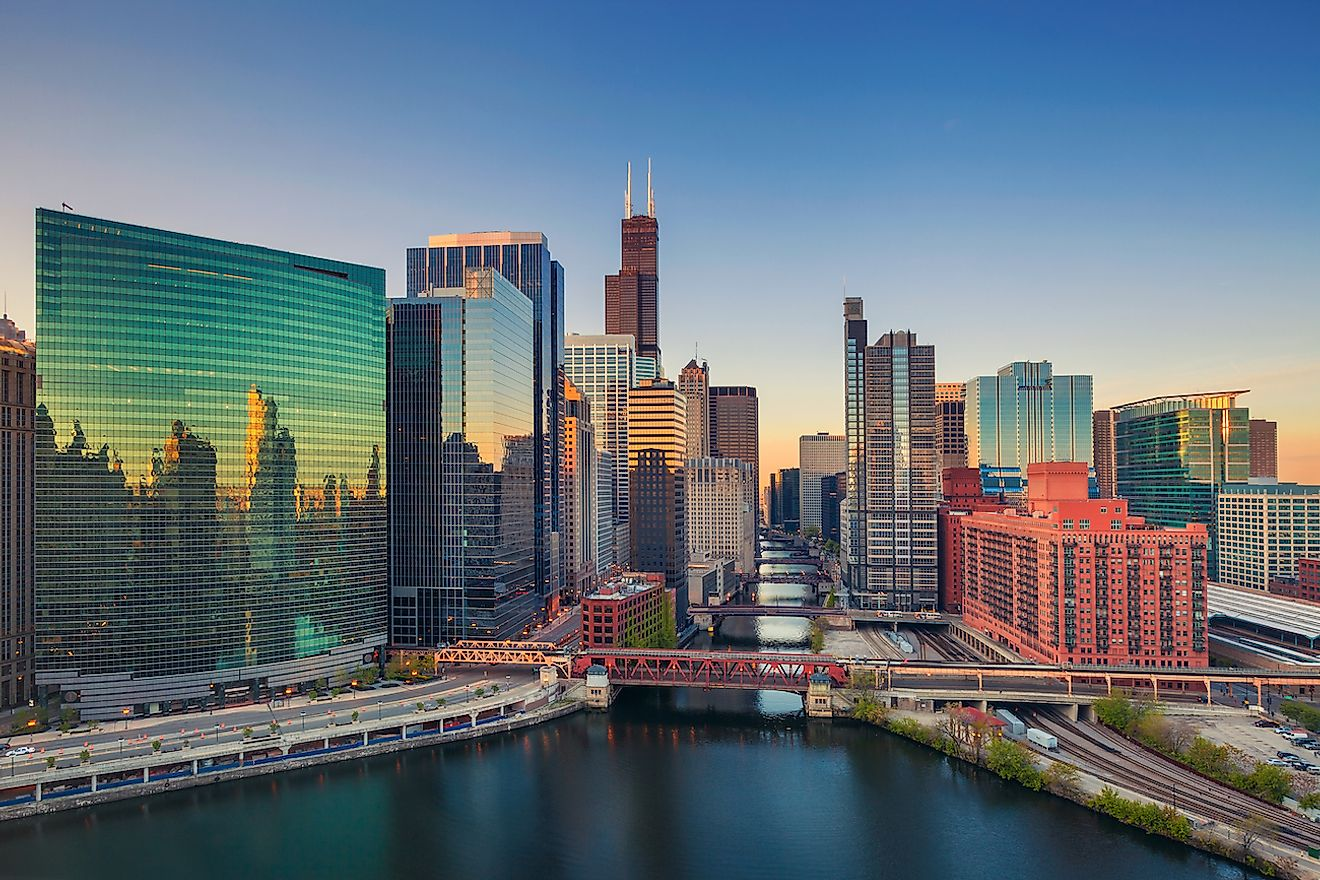 Cityscape image of Chicago downtown at sunrise. Image credit: Rudy Balasko/Shutterstock.com
