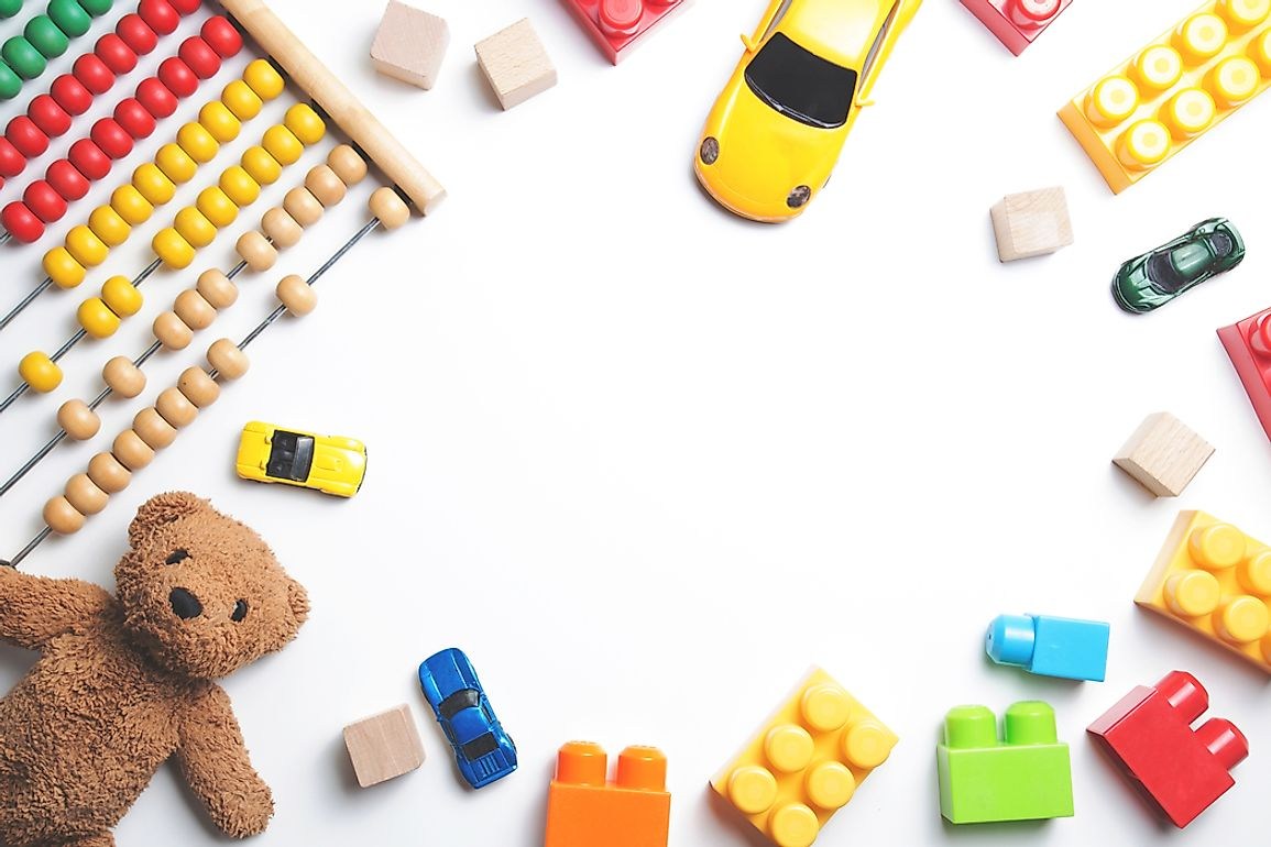 The amount spent on toys can very much vary on the cultural aspects of certain countries.