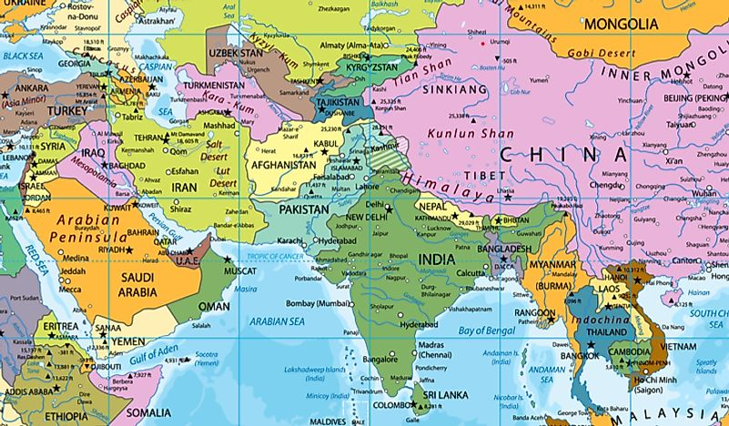 Pakistan's location on a map.