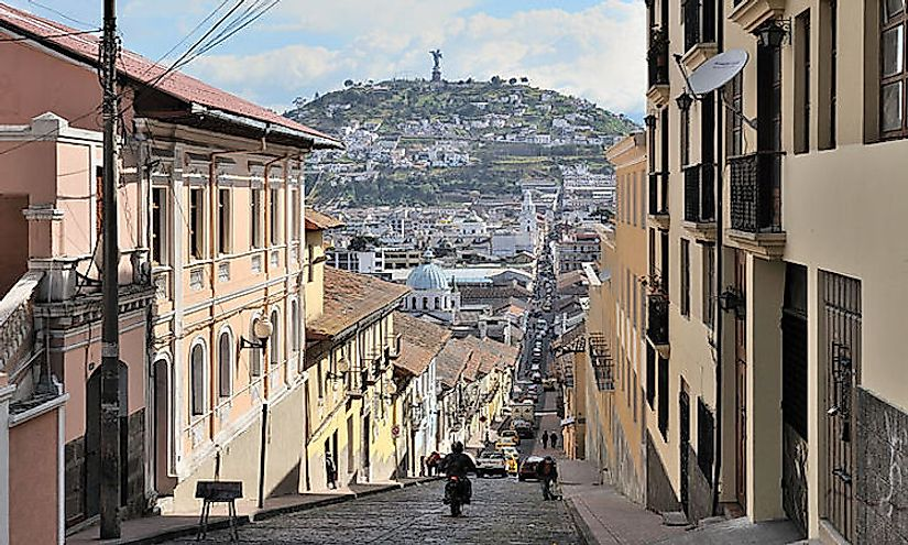 Quito Historic City in Ecuador is a cultural World Heritage Site in the country.