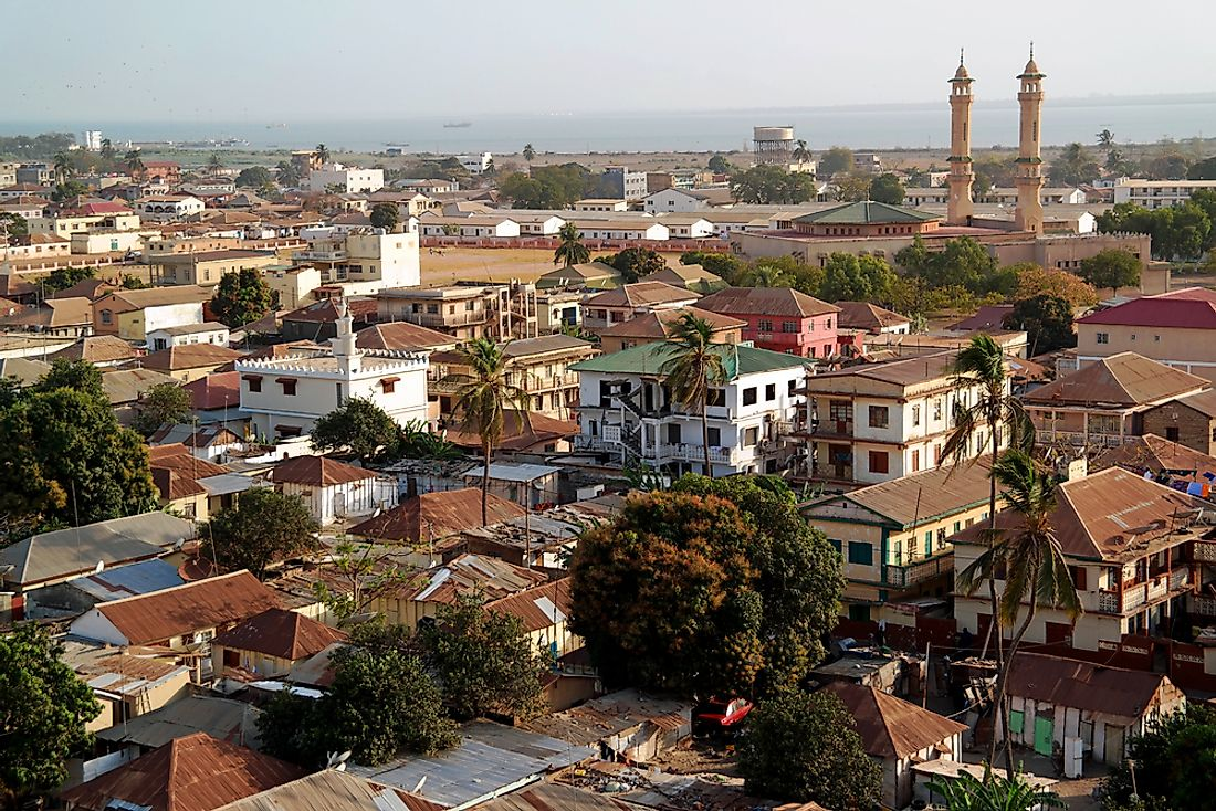 Banjul, the capital city of the Gambia.