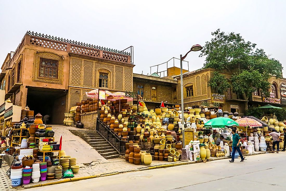 A Uyghur Pottery Store in Kashgar, China. Editorial credit: AlexelA / Shutterstock.com.