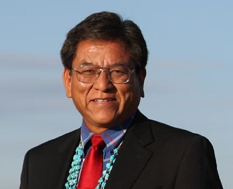 Russell Begaye, President of the Navajo Nation and the 27,000-square-mile reservation its 174,000 residents live on in New Mexico, Arizona, and Utah.