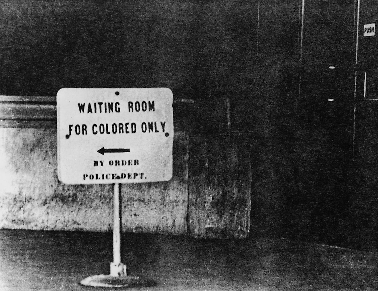 Jim Crow laws legalized racial segregation in the South after they were approved in the late 19th and early 20th centuries. Image credit: Everett Collection / Shutterstock.com