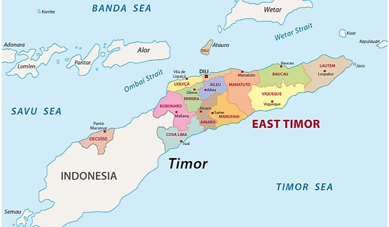 East Timor's location within Asia.