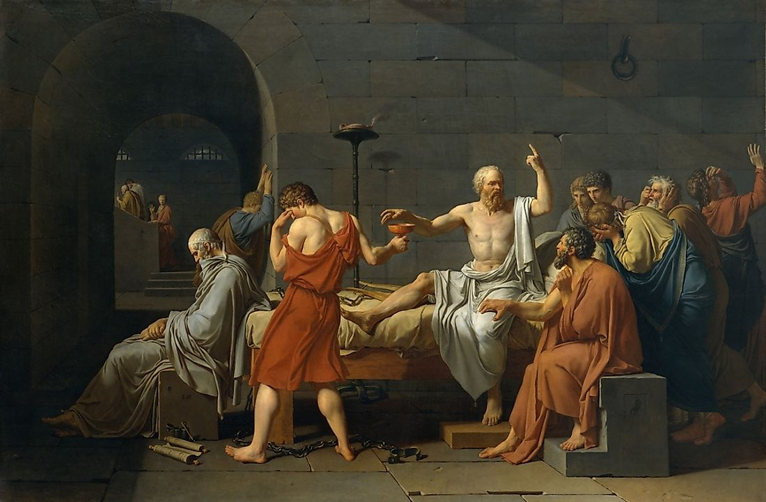 "Jacques Louis David, ""The Death of Socrates""."