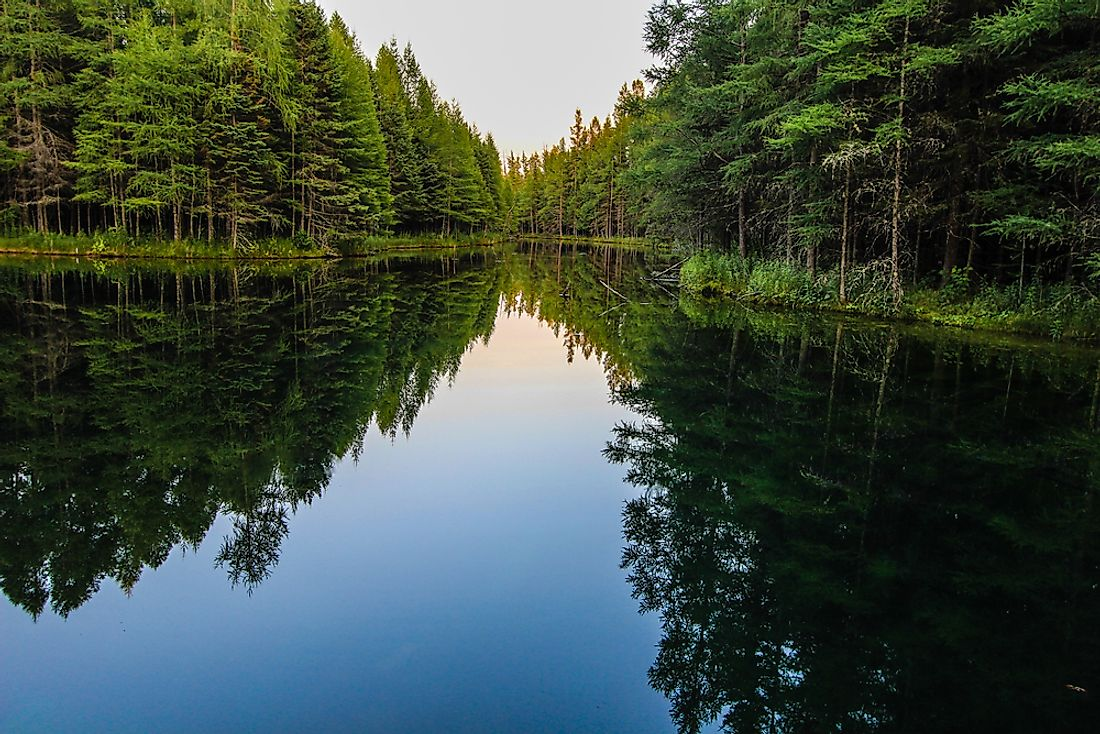 A serene lake on Michigan's Upper Peninsula.