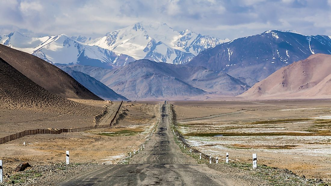 The Pamir Highway in Tajikistan.