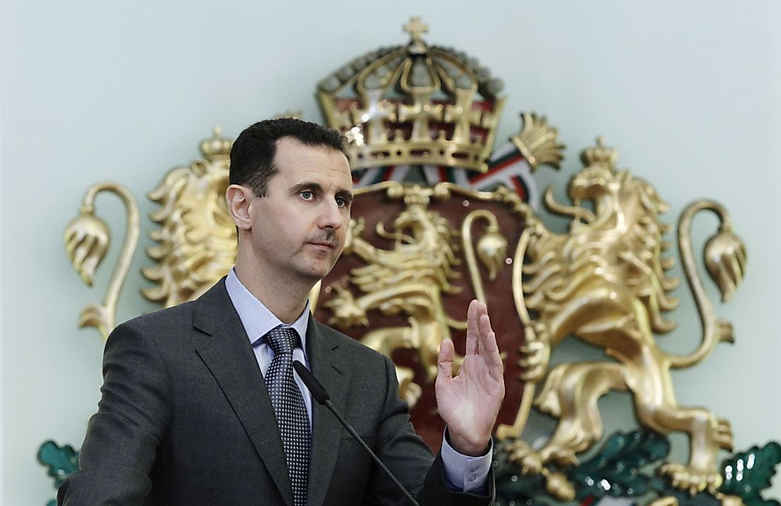 Bashar al-Assad, the incumbent president of Syria since 2000. Editorial credit: Valentina Petrov / Shutterstock.com.