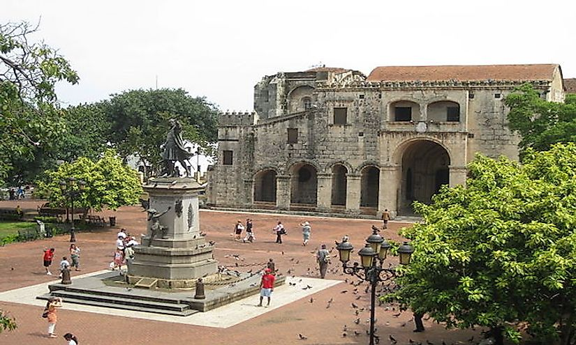 The colonial ruins of Santo Domingo serve as popular tourist attractions.