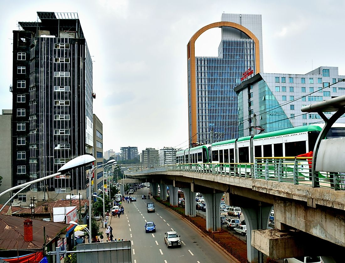 Addis Ababa is one of Africa's biggest cities. Editorial credit: Hailu Wudineh TSEGAYE / Shutterstock.com