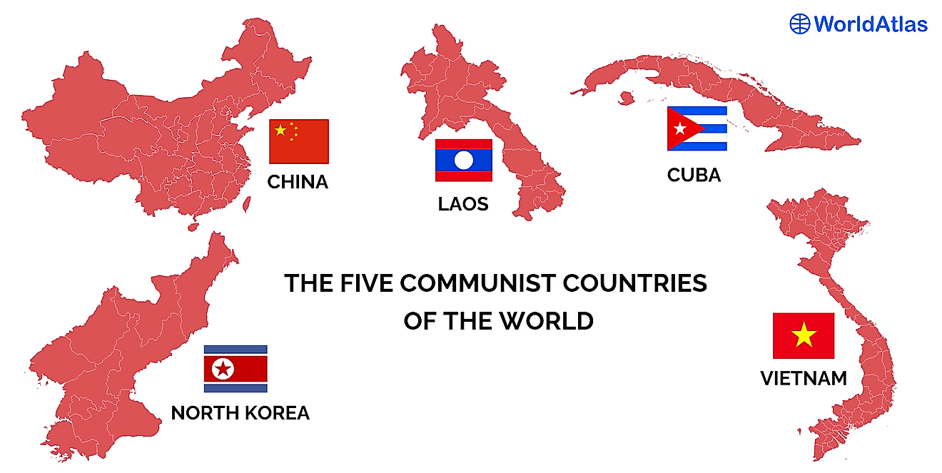 Communist countries of the world.