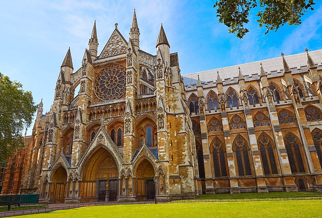 Westminster Abbey is a popular tourist attraction in London.