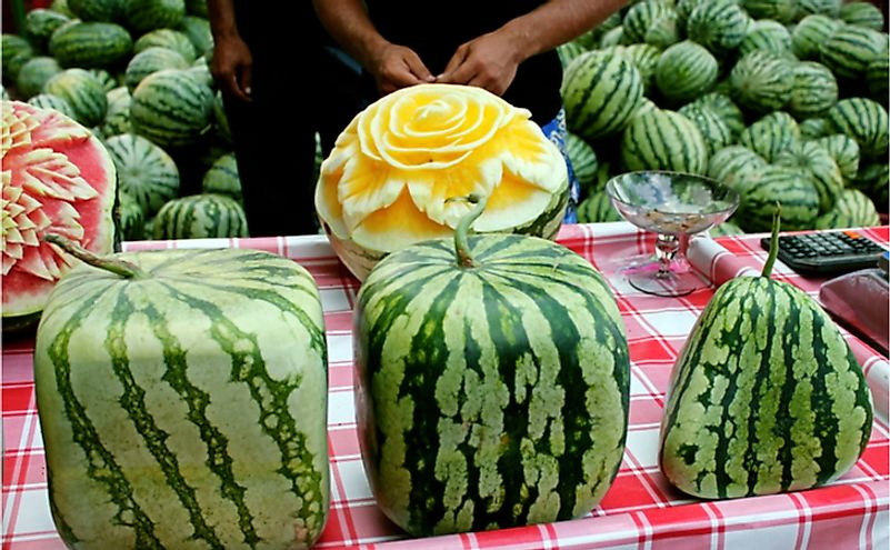 Cubic, square, triangular watermelons