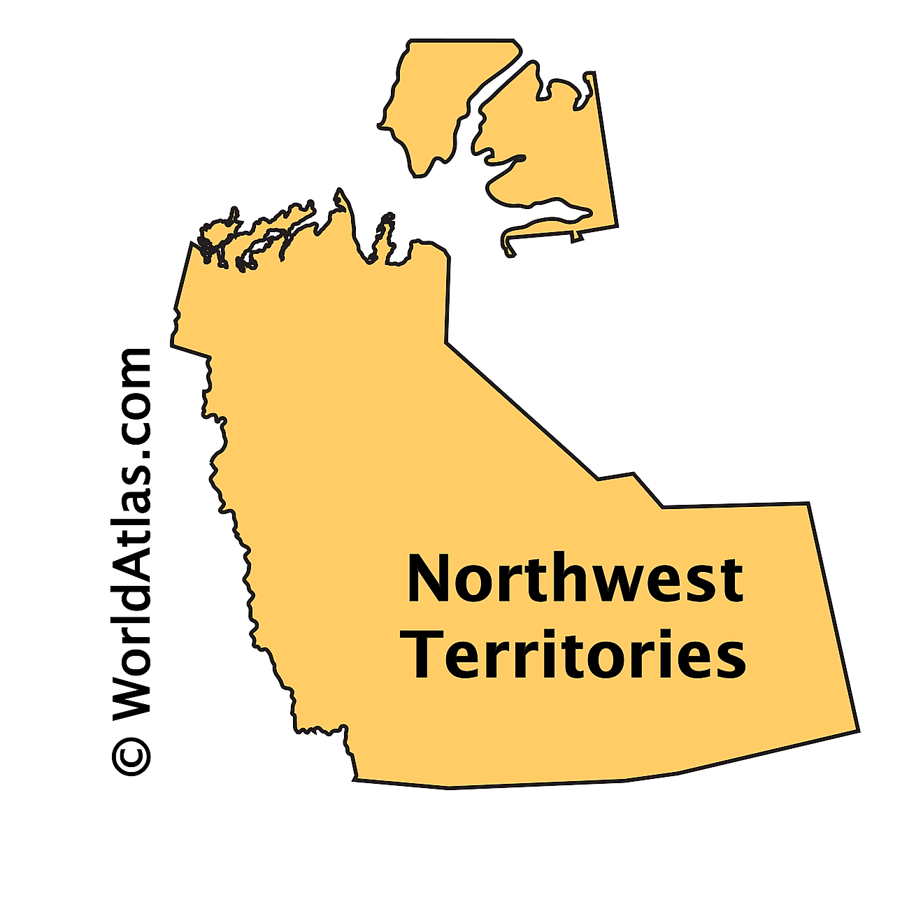 Outline Map of Northwest Territories
