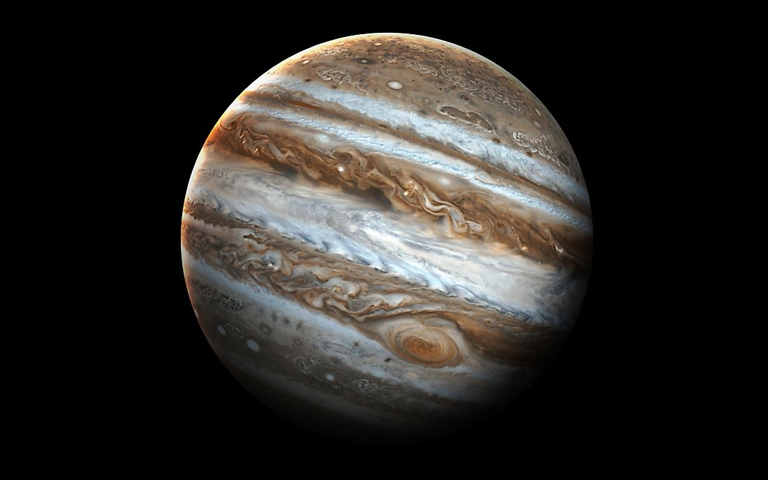 A rendering of the planet Jupiter.