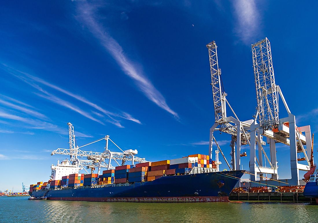 The Port of Rotterdam handles about 466.4 million tons of cargo annually.