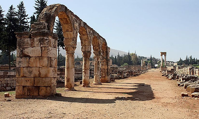 Ruins of the Umayyad city of Anjar.