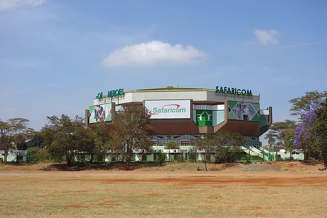 The Kasarani Safaricom Indoor Arena in Nairobi, Kenya, is one of the 20 largest indoor arenas in Africa.  Editorial credit: alarico / Shutterstock.com.