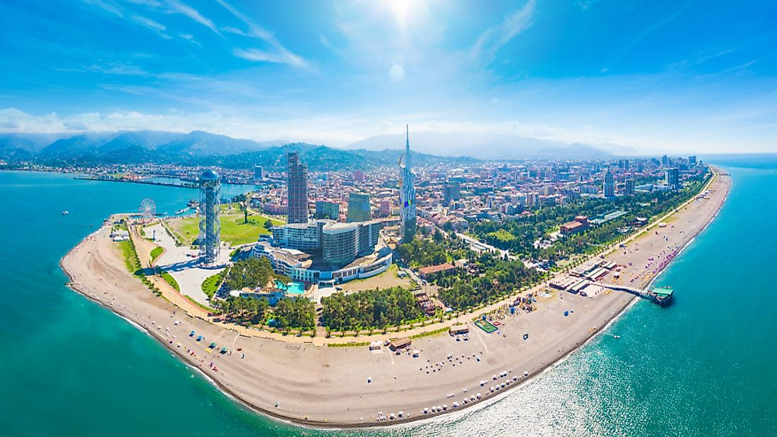 The capital city of Adjara, Batumi.