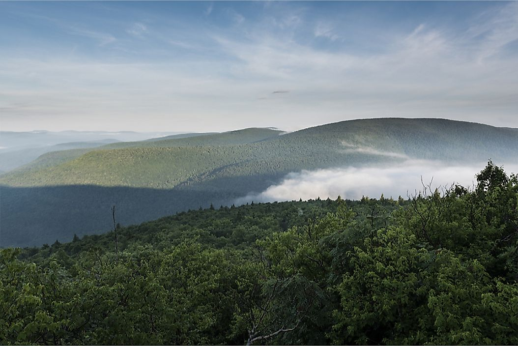 The Catskill Mountains in New York state are an example of a dissected plateau.