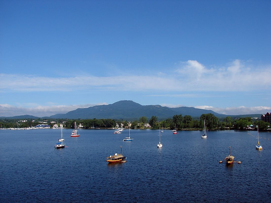"Lake Memphremagog, the alleged home of ""Memphre""."