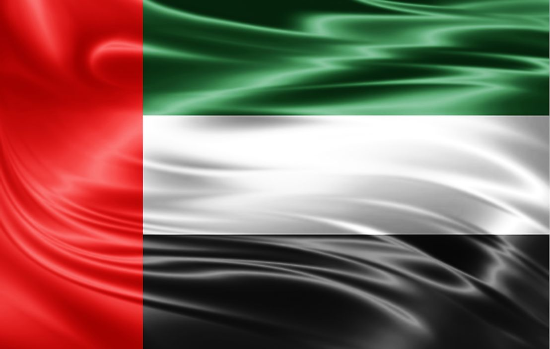 The flag of the United Arab Emirates.