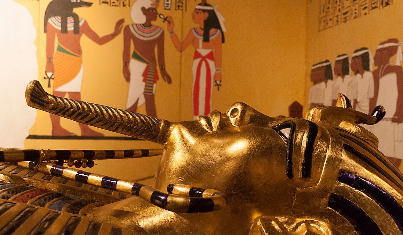 King Tutankhamun ascended to the throne at the age of nine and ruled until 1324 BC when he died aged 19 years. Editorial credit: alexandersr / Shutterstock.com.