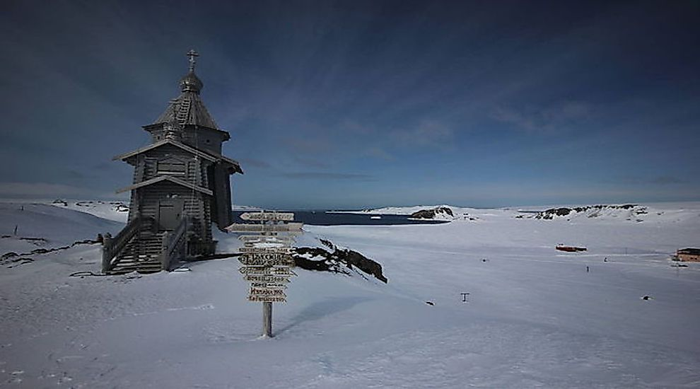 Trinity Church in Antarctica.