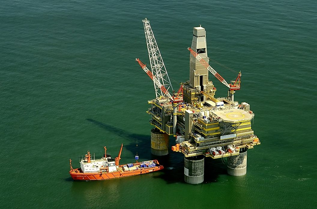 An oil rig in Russia.