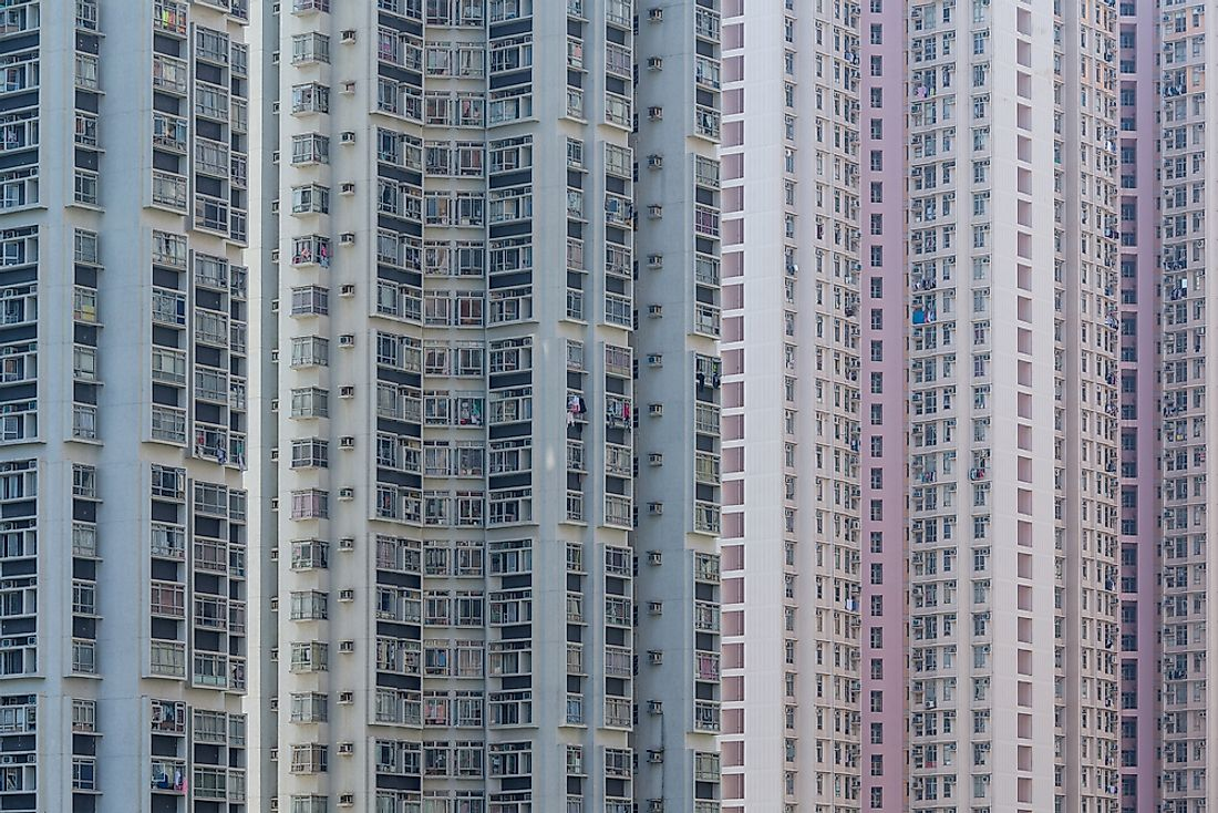 Large residential apartments in Hong Kong.