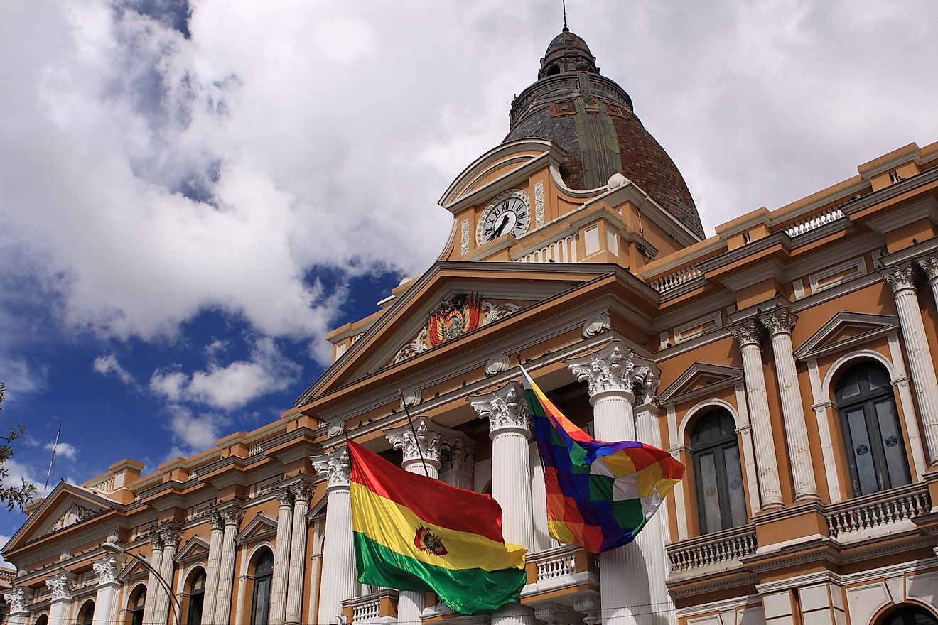 The Congress Building in Bolivia.
