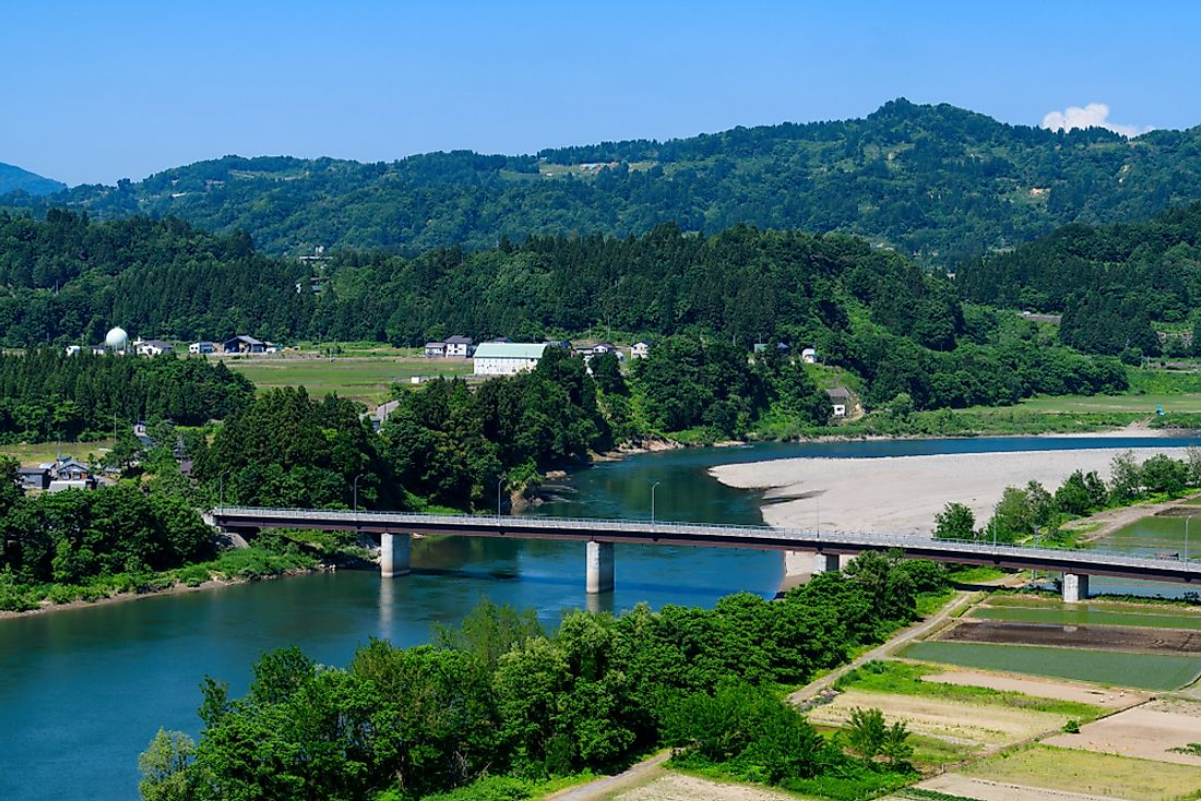 The Shinano River in Japan.