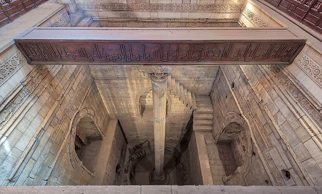 The Nilometer of Rhoda Island in Cairo. Editorial credit: Khaled ElAdawy / Shutterstock.com