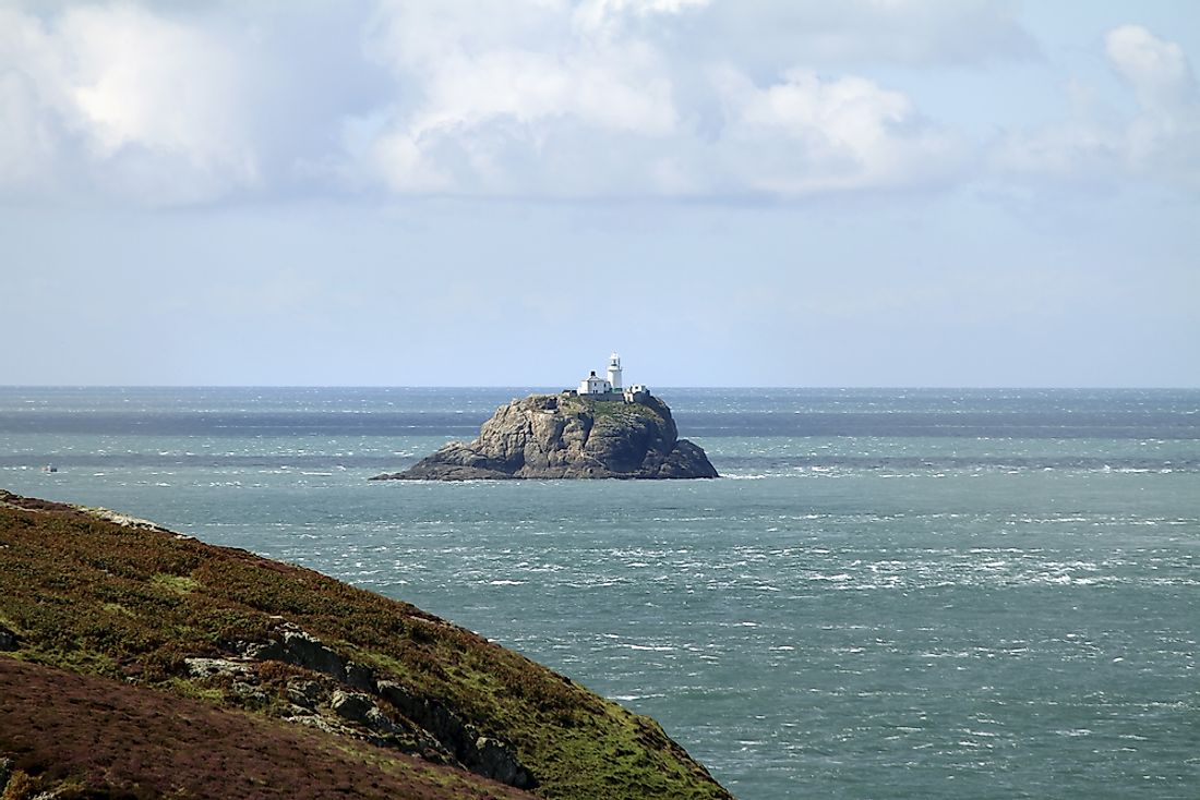 Bishop Rock, in the Atlantic Ocean, is sometimes called the world's smallest island.